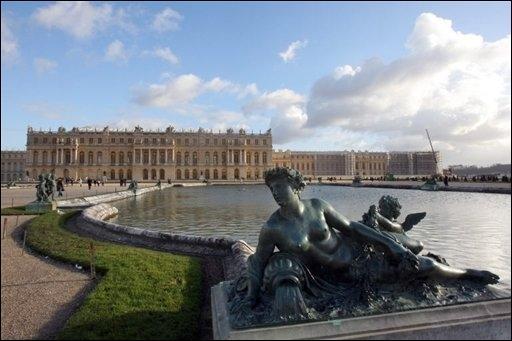 Photo du château de Versailles prise le 11 décembre 2007.