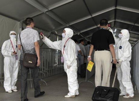 Contrôle du virus Ebola dans la province de Guangdong, en Chine.