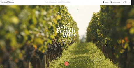 Capture d'écran du site VisitFrenchWine.com