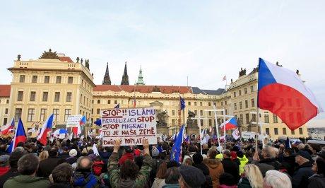 manifestations anti-migrants à Prague