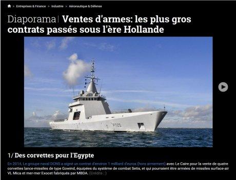Diaporama, ventes d'armes, DCNS, Dassault, MBDA, missiles, frégates, corvettes, lance-missiles, sous-marins, Barracuda, Shortfin, Egypte, Qatar,