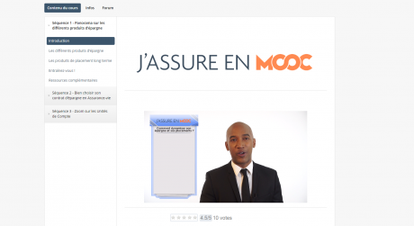 Capture d'écran J'assure en MOOC 2