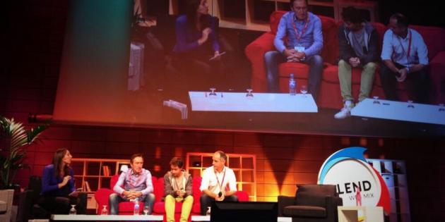 Perrine Créquy, Eric Dupin, Alexandre Malsch et Valery Gerfaud à la conférence Blend. | DR