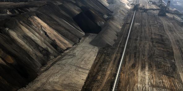 La mine de lignite de Garzweiler, près de Cologne.