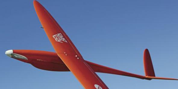 Redbird est mini-drone de moins de 25 kg en forme d'avion, dit « ailes volantes ». / DR
