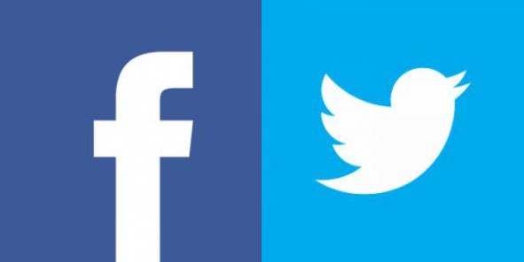 « Like » contre « gazouillis »… À tout juste 10 ans, Facebook domine encore largement Twitter, de deux ans son cadet. Les deux grands médias sociaux sont à l'affût d'une part plus grande encore du gâteau publicitaire./ DR