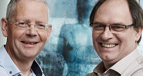 """Dans la catégorie """"Industrie"""", ce sont le belge Koen Andries et le français Jérôme Guillemont qui ont reçu le prix de l'inventeur européen de l'année décerné par l'Office européen des brevets"""