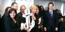 Anne Hidalgo et Valérie Pécresse le 9 mars 2016 lors de l'inauguration de l'incubateur de startups Le Cargo à Paris 19e