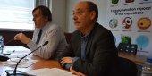 Le président de Nîmes Métropole Yvan Lachaud (à gauche) et le vice-président chargé des finances, Maurice Gaillard (à droite), lors de la présentation du budget à la presse