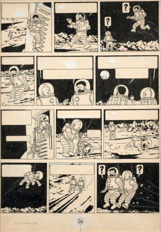 Planche simple la plus chère du monde, issue de l'album On a marché sur la Lune.