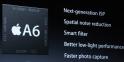 Nouveau processeur A6, donné comme deux fois plus rapide en calcul et en graphismes