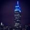 L'Empire State Building s'habille en bleu, la couleur démocrate, pour célébrer la réélection d'Obama