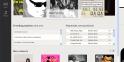 La page d'accueil de Spotify