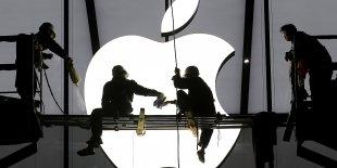 Logo Apple d'un Apple Store en Chine