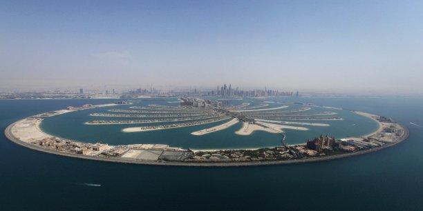 Palm Jumeirah est un archipel artificiel des Émirats arabes unis baigné par le golfe Persique. Copyright Reuters