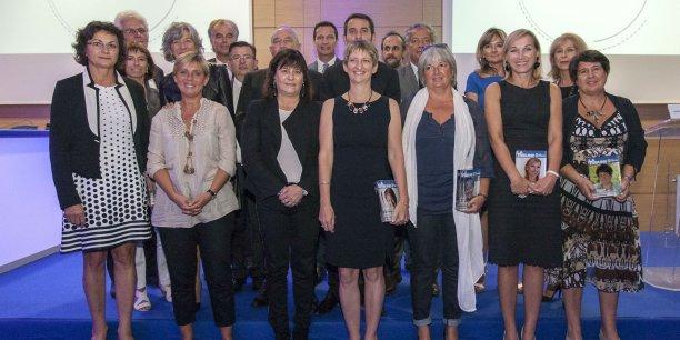 Les lauréates de La Tribune Women's Awards Rhône Alpes, à Lyon jeudi 26 septembre. © La Tribune