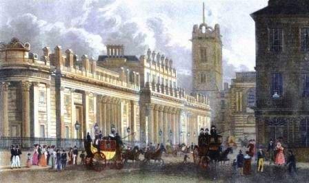 En 1906, la banque d'Angleterre a limité les paiements en or vers les Etats-Unis pour pouvoir préserver ses réserves. / Gravure de 1850 coloriée à la main