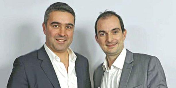 Cofondateurs de Ubleam, Olivier Mezzarobba (à gauche) et Samuel Boury veulent devenir des leaders mondiaux de la réalité augmentée. / DR