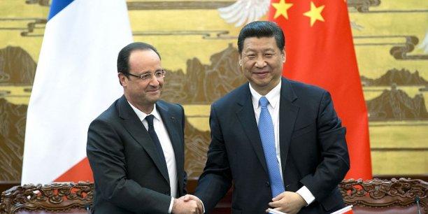 Le président chinois Xi Jinping avec François Hollande
