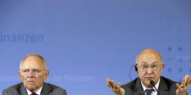 Y a-t-il une dissension entre Michel Sapin et Wolfgang Schäuble ?