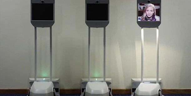 Les robots commercialisés en France par Bruno Bonnell promette une téléprésence. (Crédits Beam)