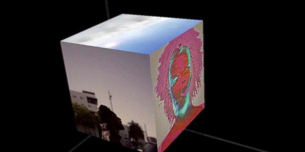 Chaque facette du Cube montre un point de vue différent du clip du single No Fun. (Photo : capture d'écran du Cube de The Presets réalisé par Google Creative Lab)