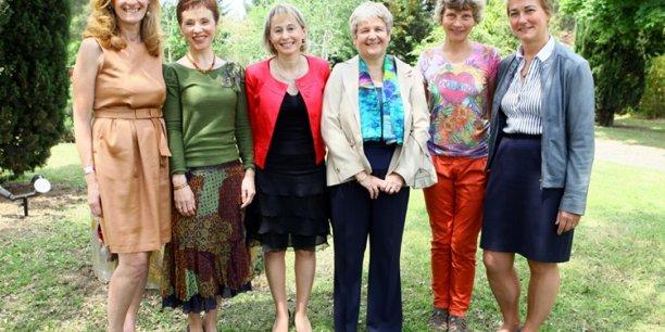 Les lauréates des Trophées des Femmes Objectif News : Nicole Belloubet, Catherine Gay, Catherine Lambert, Isabelle Rico-Lattes, Catherine Ballot-Flurin et Nathalie Smirnov