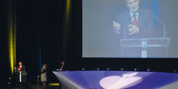 À la tribune, Mohed Altrad, président du groupe éponyme. © photo AL