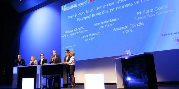 Une conférence-débat organisée à l'occasion du lancement de la nouvelle offre d'information numérique La Tribune-Objectif News