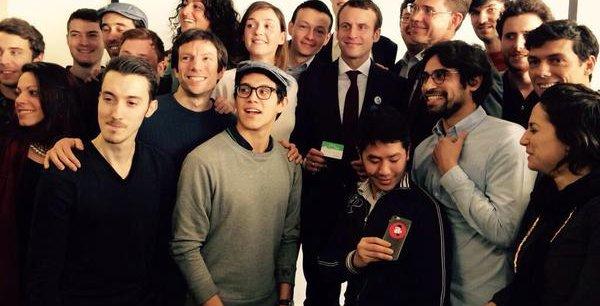 Emmanuel Macron, ici entouré de startupers au Numa, mise sur Bruxelles pour épauler les pépites de l'Hexagone.
