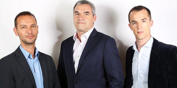 Patrick Chekib, Didier Soucheyre et Arnaud Laurent : à la fois entrepreneurs et capital-risqueurs.