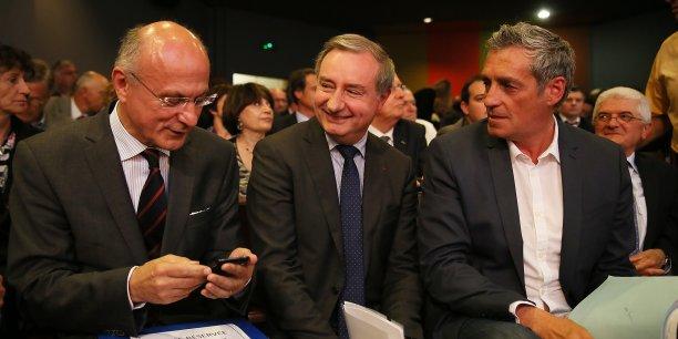 Pierre de Bousquet, Jean-Luc Moudenc et Philippe Saurel