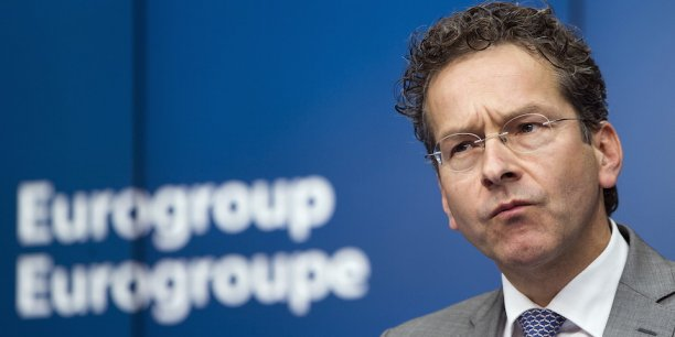 """Le président de l'Eurogroupe, Jeroen Dijsselbloem, s'émeut des """"nominations politiques"""" dans les banques grecques."""