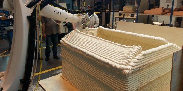 Une imprimante 3d g ante pour construire de l 39 habitat d for Construction de maison imprimante 3d