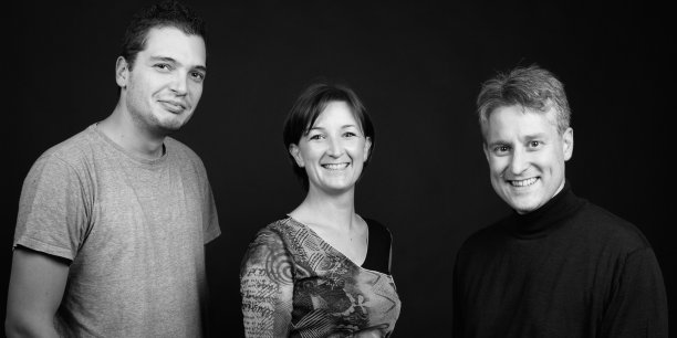 , Laure Thiéblot, Benjamin Laluque et Yves Grellet, les co-fondateurs de Farkli Online