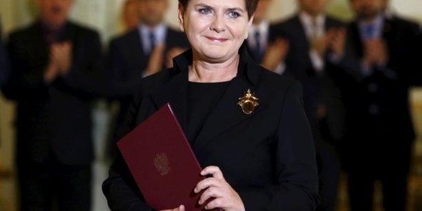 Beata Szyldlo, premier ministre polonais, membre du parti Droit et Justice (PiS)