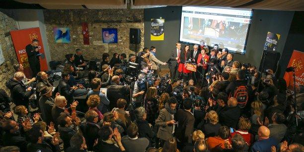 Carole Delga dimanche 13 décembre à Montpellier.