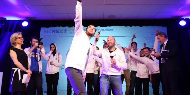 L'équipe de Payname, venue chercher son prix sur scène