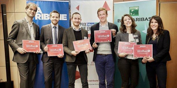 Les six gagnants de la région Nord-Est, qui ont gagné le droit de défendre leurs couleurs en mars prochain, face aux autres lauréats de l'Hexagone.