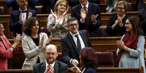 Patxi López, nouveau président du Congrès des députés espagnol, élu, ce mercredi 13 janvier, grâce aux voix socialistes et centristes et à l'abstention de la droite.