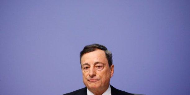 """Mario Draghi, président de la Banque centrale européenne a contribué au compromis sur la """"résolution bancaire"""""""