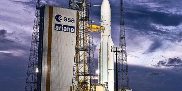 Ariane 5 sur le pas de tir avant sa 84e mission