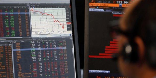 La Bourse repasse de nouveau dans le rouge.