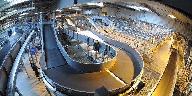 Le plus grand centre logistique d'UPS en France.
