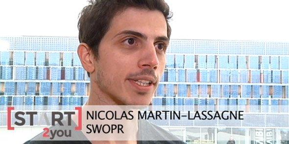 """La start-up, co-fondée par Nicolas Martin-Lassagne, propose une appli construite sur la logique du """"matching"""" d'utilisateurs."""