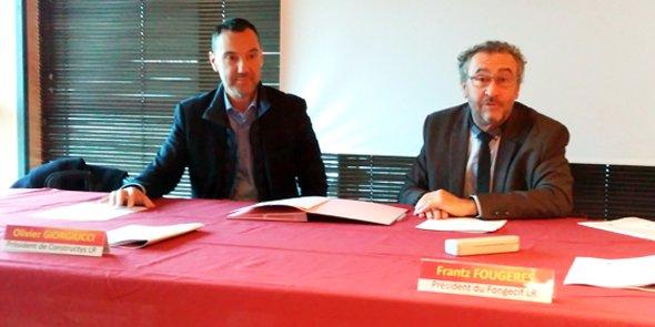 De g. à d.: Olivier Giorgiucci et Frantz Fougères