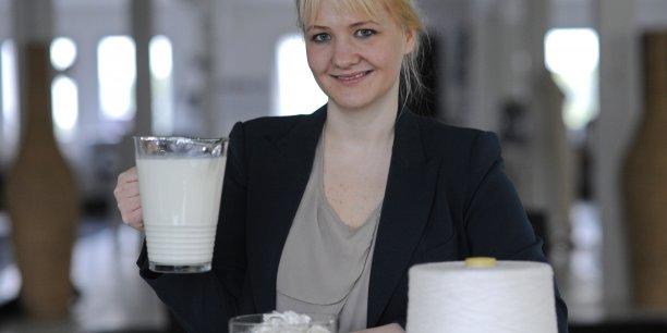 Anke Domaske, microbiologiste et créatrice de mode.