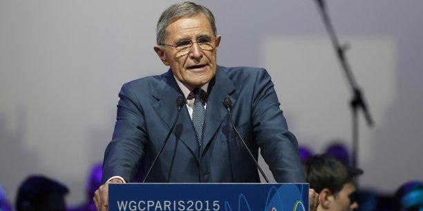Le groupe va abaisser le dividende à 0,70 euros par action au titre des exercices 2017 et 2018. (Photo: Gérard Mestrallet - ici lors de la Conférence mondiale du gaz, à Paris, en juin dernier - a été reconduit hier mercredi 24 février pour deux ans à la tête de l'entreprise)