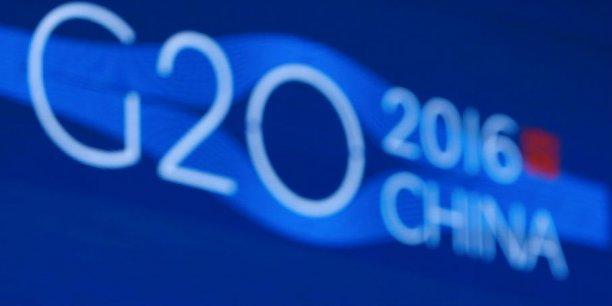 Les grands argentiers du G20 examinent vendredi et samedi les risques qui menacent l'économie mondiale, fortement ébranlée.