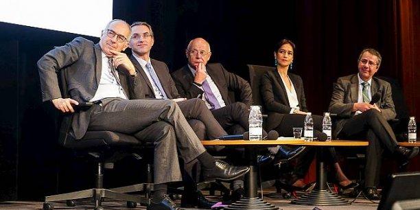 Manuel Tunon de Lara (Université de Bordeaux), Franck Raynal (Bordeaux Métropole), Luc Grislain (Bertin Pharma, Gipso), Anne Ferrer (CHU de Bordeaux), Emmanuel Bussières (Institut Bergonié)